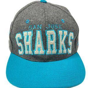 Vintage NHL San Jose Sharks Wool Snapback Hat 90s